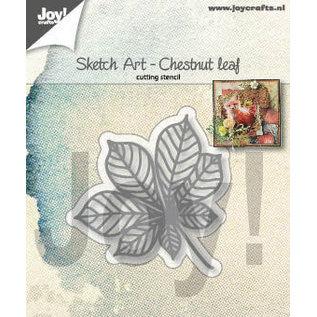 Joy!Crafts Snijstencil - Sketch Art - Kastanjeblad