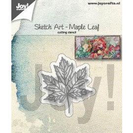 Joy!Crafts Snijstencil - Sketch Art  - Esdoorn blad