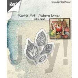 Joy!Crafts Snijstencils - Sketch Art - Herfst bladeren