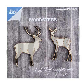 Joy!Crafts Woodsters - Houten hertjes