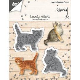 Cut-embossdies - Francien - - Two kittens