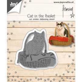 Joy!Crafts Cut-emboss-debossdie - Francien - Cat in the basket