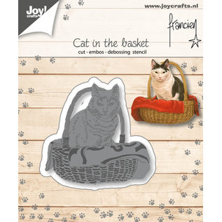 Joy!Crafts Cut-emboss-debossdie - Francien - Cat in the basket
