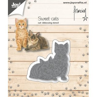 Joycrafts Cut-embossdies - Francien - Two cats