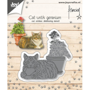 Jilliez Cut-emboss-debossdie - Francien - Cat with geranium