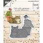 Joy!Crafts Cut-emboss-debossdie - Francien - Cat with geranium