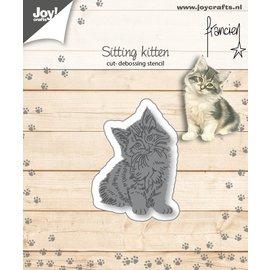 Cut-embossdies - Francien - Sitting kitten