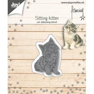 Joycrafts Cut-embossdies - Francien - Sitting kitten