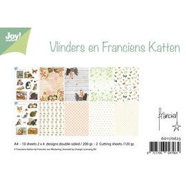 Joycrafts Paper bloc Vlinders & Franciens Katten