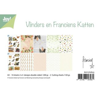 Paper bloc Vlinders & Franciens Katten