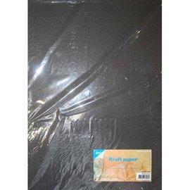 Kraftpapier Zwart A4