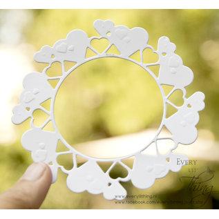 Joy!Crafts Snij-embosstencil - Bille's hartencirkel