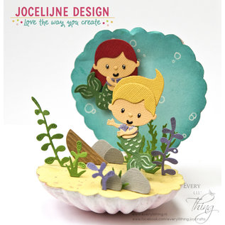 Joycrafts Snij-emb.stencil - Jocelijne - Zeemeermin - Kleine Suze