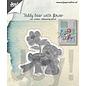 Joy!Crafts Snij-embos-debosstencil - Teddybeer met bloem