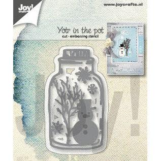 Joy!Crafts Snij-emboss stencil - Sneeuwpop in pot