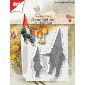 Joy!Crafts Colour-snij-debosstencil - R. Poortvliet - kabouter met zoon