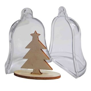Joy!Crafts Transparante klok met denneboom