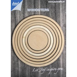 Joy!Crafts Woodsters hout - Cirkels voor Schudkaarten en deco