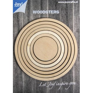 Joy!Crafts Woodsters hout - Cirkels voor Schudkaarten en deco