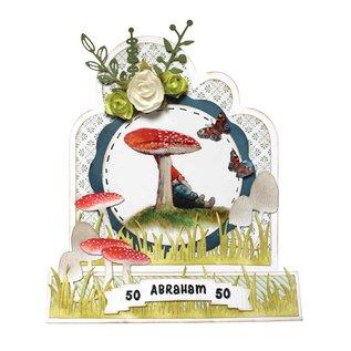 Joy!Crafts Snij-emboss-debosstnecil - Rien Poortvliet - paddenstoelen