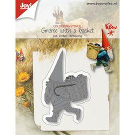 Joy!Crafts Snij-emb-debosstencil - R. Poortvliet -kabouter met mand