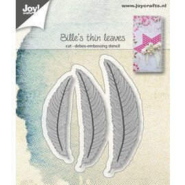 Joy!Crafts Snij-embos-debosstencils - Bille's dunne bladeren