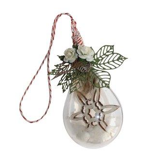 Joy!Crafts Transparante druppel met sneeuwvlok