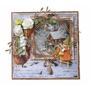Joy!Crafts Snij-debosstencil - R.Poortvliet - Kaboutervrouw + vogel