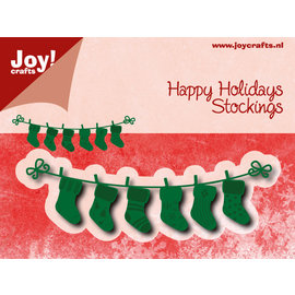 Snij-embosstencil - Noor - Happy Holidays Stockings