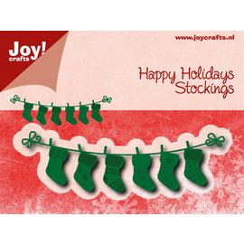 Snij-embosstencil - Noor - Happy Holidays Stockings
