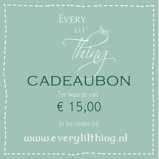 Joy!Crafts Cadeaubon 15