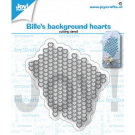 Joy!Crafts Snijstencil - Bille's harten achtergrond