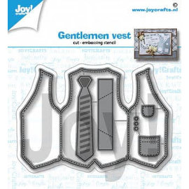 Joy!Crafts Snij-embosstencil - Heren gilet