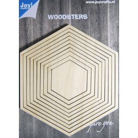 Joy!Crafts Woodsters - Deco-schudkaart hexagon
