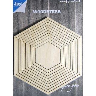Joy!Crafts Woodsters - Deco-schudkaart hexagon