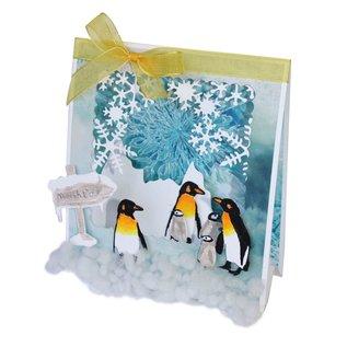 Joy!Crafts Snij-emboss-debosstencil - Pinguïnfamilie