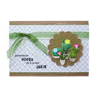 Joy!Crafts Snij-emboss-debosstencil - Bloeiende cactussen