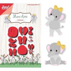 Joy!Crafts Snij-embosstencil - Mon Ami - olifant Nima