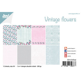Joy!Crafts Papierset - Design Vintage Flowers