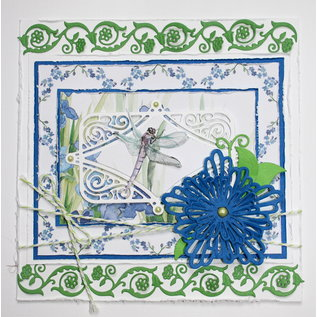 Joy!Crafts Snij-debos-embosstencil - bloemen rand