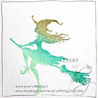 Joy!Crafts Clearstempel - Noor - LH - Halloween Flying Witch