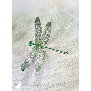 Joy!Crafts Snij- embosstencil + stempel - Endless libelle