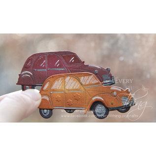 Joy!Crafts Snij-debos-embosstencil - Hippie auto