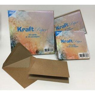 Joy!Crafts Kraftkaarten met envelop - 12x12 cm
