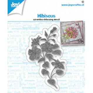 Joy!Crafts Snij-debos-embosstencil - Hibiscus bloem