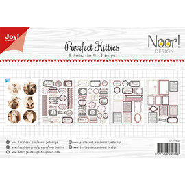 Joy!Crafts Labelvellen/knipvel - Noor - Purrfect Kitties