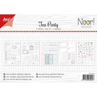 Joy!Crafts Labelvellen/knipvel  - Noor - Tea Party