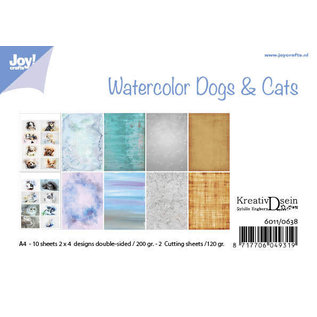 Joy!Crafts Papierset -  Bille - Design Aquarell Dogs & Cats