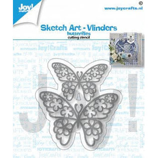 Joy!Crafts Snijstencil- Sketch art-Vlinders
