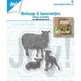Joy!Crafts Snij-debosstencil- Schaap & lammetjes